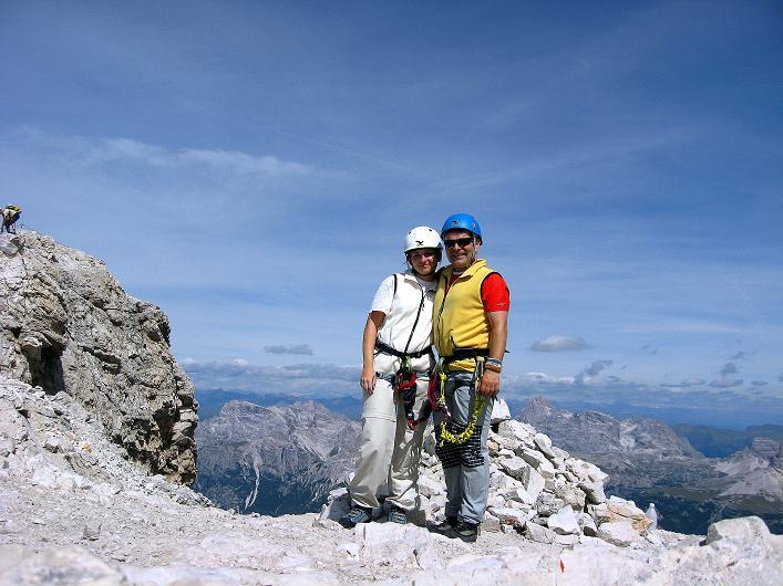 Foto: Andreas Koller / Klettersteig Tour / Ferrata Marino Bianchi - Cristallo di Mezzo (3167 m) / Gipfelfreuden / 23.09.2008 01:26:06