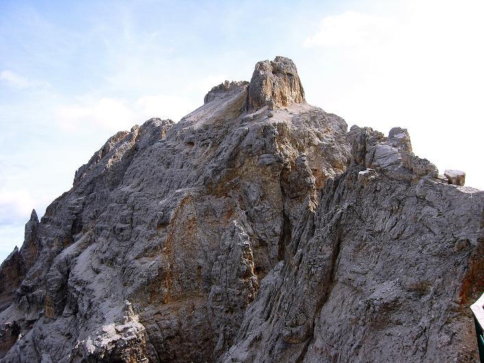 Foto: Andreas Koller / Klettersteig Tour / Ferrata Marino Bianchi - Cristallo di Mezzo (3167 m) / Letzter Blick auf den Cristallo di Mezzo / 23.09.2008 01:23:04