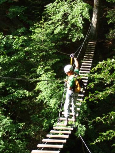 Foto: hofchri / Klettersteig Tour / Klettersteig durch die Postalmklamm / die Seufzer-Brücke (C) / 22.02.2009 20:47:40