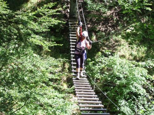 Foto: hofchri / Klettersteig Tour / Klettersteig durch die Postalmklamm / für Kleinere eine Seilverlängerung (Bandschlinge) mitnehmen! / 22.02.2009 20:48:26