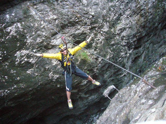 Klettersteig Postalm : Postalmklamm klettersteig