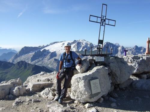 Foto: hofchri / Klettersteig Tour / Piz Boè (3152m), Via ferrata Cesare Piazzetta / der Gipfelgenuss / 03.10.2009 18:37:26