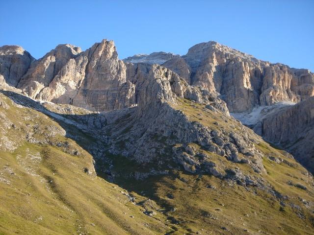 Foto: Manfred Karl / Klettersteig Tour / Piz Boè (3152m), Via ferrata Cesare Piazzetta / Piz Boè von Süden / 23.09.2008 19:28:48