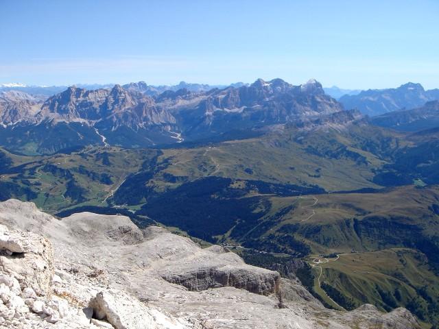 Foto: Manfred Karl / Klettersteig Tour / Piz Boè (3152m), Via ferrata Cesare Piazzetta / Beim Ausstieg des Klettersteiges / 23.09.2008 19:24:19