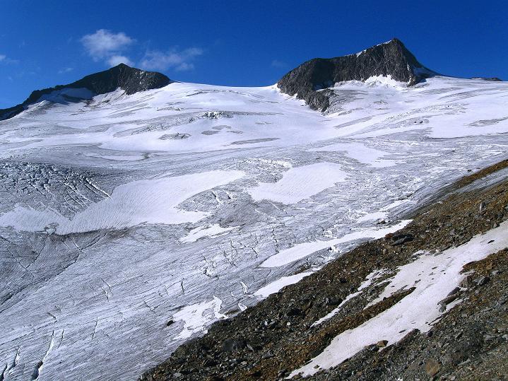 Foto: Andreas Koller / Wander Tour / Schwarze Wand und Hoher Zaun - stille Gipfeltour vom Defregger Haus (3507 m) / Rainerkees, Hohes Aderl (3504 m) und Rainerhorn (3560 m) / 24.09.2008 00:04:11