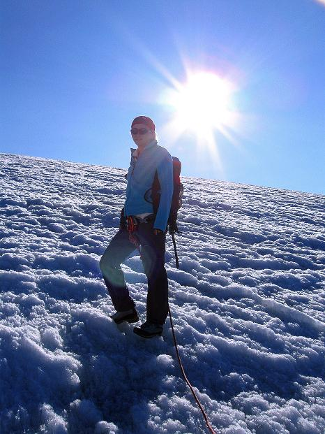 Foto: Andreas Koller / Wander Tour / Schwarze Wand und Hoher Zaun - stille Gipfeltour vom Defregger Haus (3507 m) / Am Äußeren Mullwitzkees / 24.09.2008 00:00:44