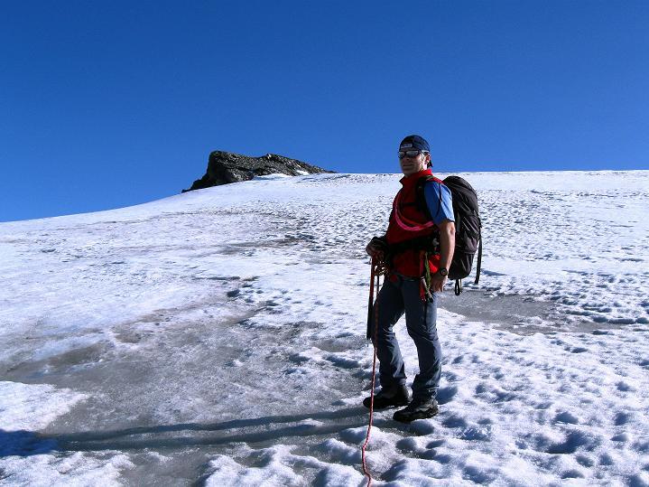 Foto: Andreas Koller / Wander Tour / Schwarze Wand und Hoher Zaun - stille Gipfeltour vom Defregger Haus (3507 m) / Kurz unterhalb des Hohen Zaun / 24.09.2008 00:00:12