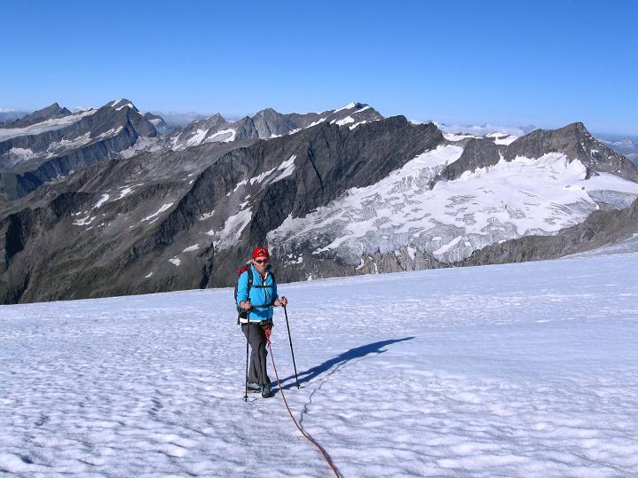 Foto: Andreas Koller / Wander Tour / Schwarze Wand und Hoher Zaun - stille Gipfeltour vom Defregger Haus (3507 m) / Über das Äußere Mullwitzkees zum Hohen Zaun / 23.09.2008 23:59:51