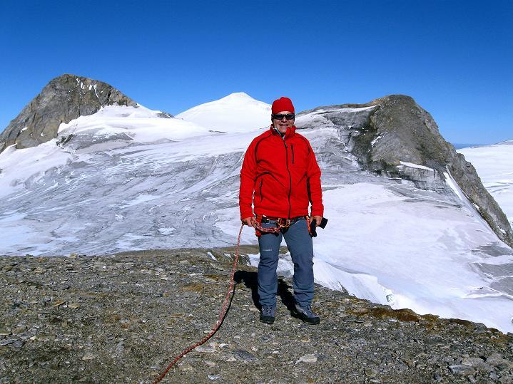 Foto: Andreas Koller / Wander Tour / Schwarze Wand und Hoher Zaun - stille Gipfeltour vom Defregger Haus (3507 m) / Blick von Hohen Zaun auf Rainer Horn (3560 m), Großvenediger (3674 m) und Schwarze Wand / 23.09.2008 23:55:58