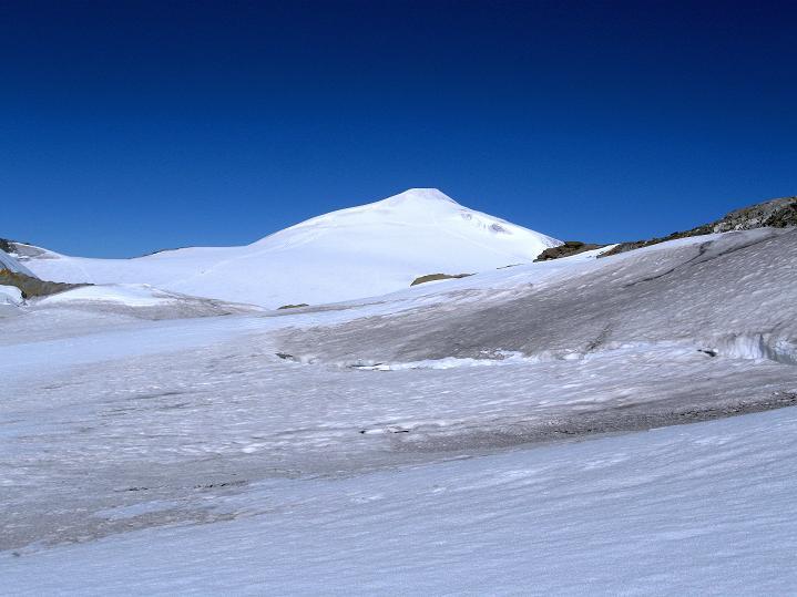 Foto: Andreas Koller / Wander Tour / Schwarze Wand und Hoher Zaun - stille Gipfeltour vom Defregger Haus (3507 m) / Vom Sattel Blick auf den Großvenediger (3674 m) / 23.09.2008 23:55:09