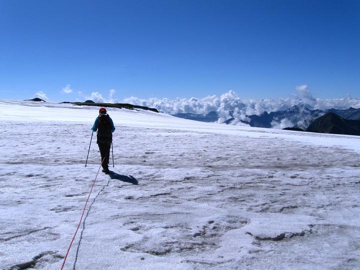 Foto: Andreas Koller / Wander Tour / Schwarze Wand und Hoher Zaun - stille Gipfeltour vom Defregger Haus (3507 m) / Abstieg am Äußeren Mullwitzkees / 23.09.2008 23:51:58