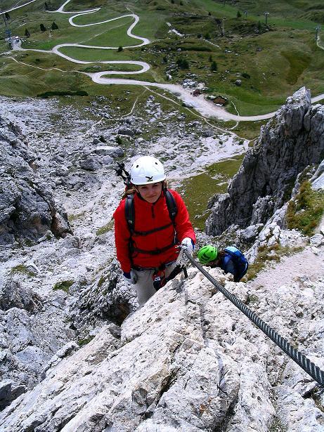 Foto: Andreas Koller / Klettersteig Tour / Ferrata Cir V (2520m) / Kurz nach der Einstiegsleiter / 24.09.2008 00:46:59
