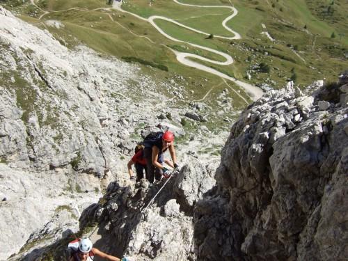 Foto: hofchri / Klettersteig Tour / Ferrata Cir V (2520m) / luftige Einlagen / 14.02.2009 17:34:56