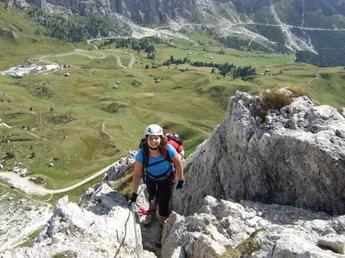 Foto: hofchri / Klettersteig Tour / Ferrata Cir V (2520m) / Klettersteig-Schwierigkeiten B bis C / 14.02.2009 17:36:07