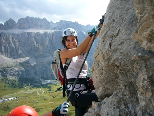 Foto: hofchri / Klettersteig Tour / Ferrata Cir V (2520m) / paar kräftige Aufschwünge / 14.02.2009 17:36:36