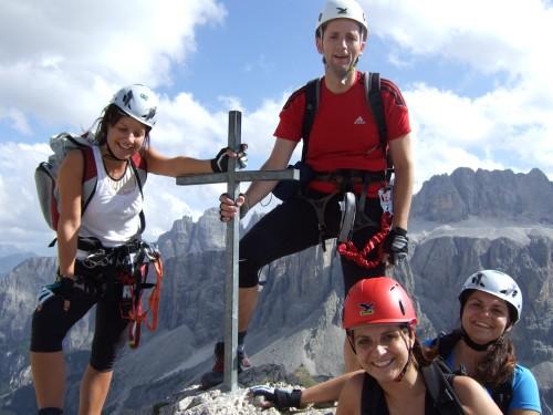 Foto: hofchri / Klettersteig Tour / Ferrata Cir V (2520m) / am CirV-Gipfel (2.520 m) / 14.02.2009 17:37:24