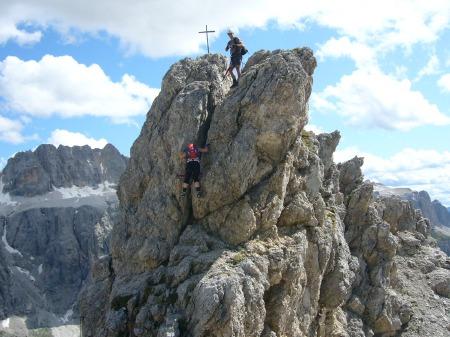 Foto: hofsab / Klettersteig Tour / Ferrata Cir V (2520m) / der luftige Abstieg / 29.08.2009 10:38:46