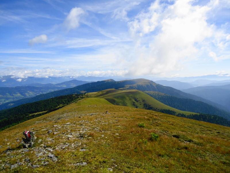 Foto: Günter Siegl / Wander Tour / 7 Gipfel Wanderung / Rückblick Ackerlhöhe / 31.08.2014 21:21:34