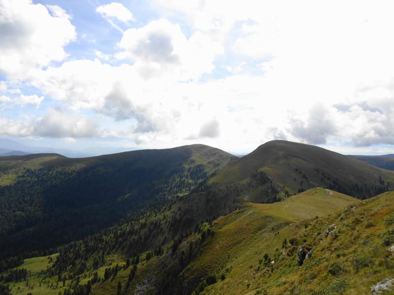 Foto: Günter Siegl / Wander Tour / 7 Gipfel Wanderung / Rückblick Prankerhöhe / 31.08.2014 21:19:23