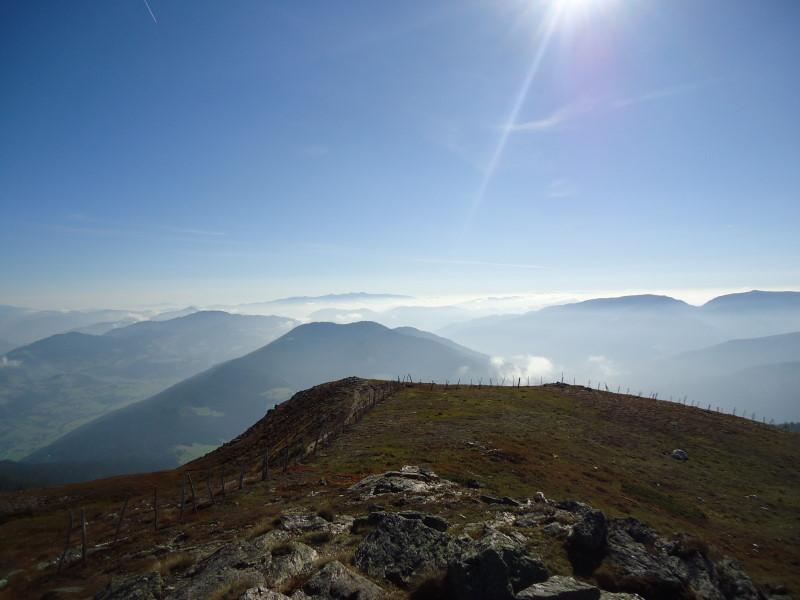 Foto: Günter Siegl / Wander Tour / Gstoder (von Seebach) / Kramerkogel und Stozalpe, im Hintergrund Seetaler Alpen / 23.09.2014 21:14:26