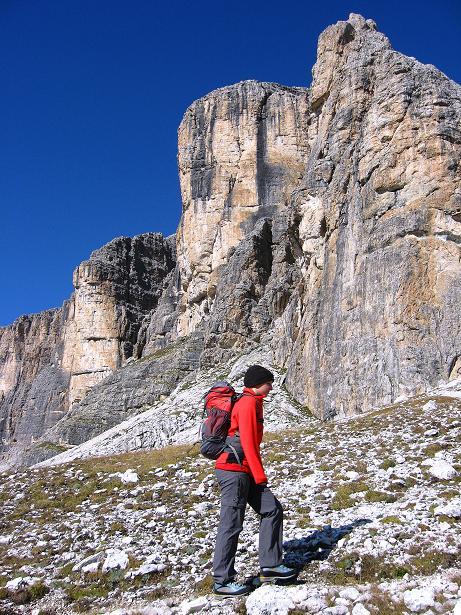 Foto: Andreas Koller / Klettersteig Tour / Piz da Lech (2910m): Südkar-Anstieg oder Klettersteig / Die S-Wand des Piz da Lech / 25.09.2008 20:20:12