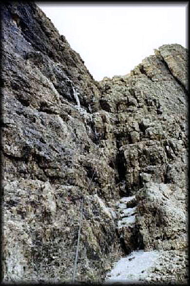 Foto: Andreas Koller / Klettersteig Tour / Piz da Lech (2910m): Südkar-Anstieg oder Klettersteig / Kombinationsmöglichkeit: Schlüsselstelle am Vallon-Klettersteig  / 25.09.2008 20:00:30