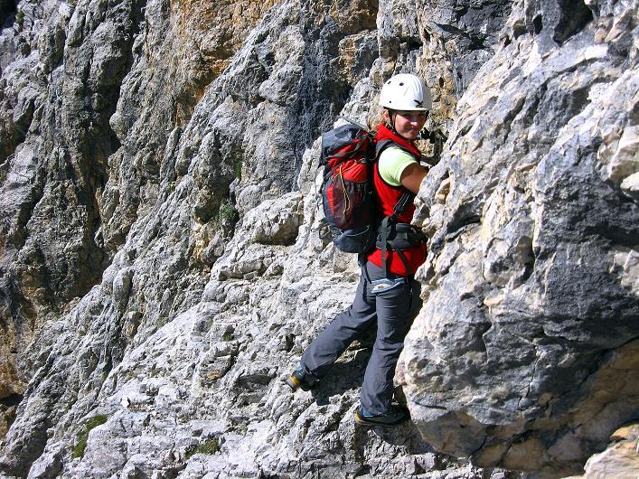 Foto: Andreas Koller / Klettersteig Tour / Piz da Lech (2910m): Südkar-Anstieg oder Klettersteig / Immer viel Luft unter den Sohlen / 25.09.2008 20:14:53