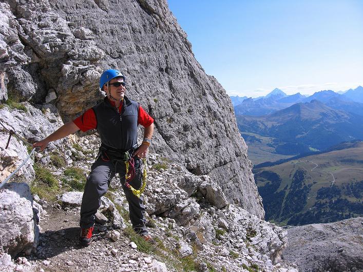 Foto: Andreas Koller / Klettersteig Tour / Piz da Lech (2910m): Südkar-Anstieg oder Klettersteig / Zum Verschnaufen: kleiner Rastplatz / 25.09.2008 20:12:59