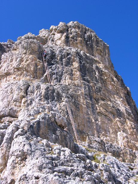 Foto: Andreas Koller / Klettersteig Tour / Piz da Lech (2910m): Südkar-Anstieg oder Klettersteig / Variante A: über die Leitern am Klettersteig / 25.09.2008 20:11:39