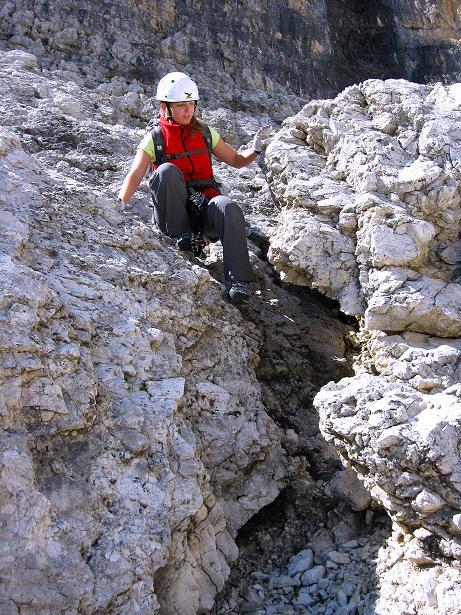 Foto: Andreas Koller / Klettersteig Tour / Piz da Lech (2910m): Südkar-Anstieg oder Klettersteig / Variante B: Querung ins Südkar / 25.09.2008 20:10:12