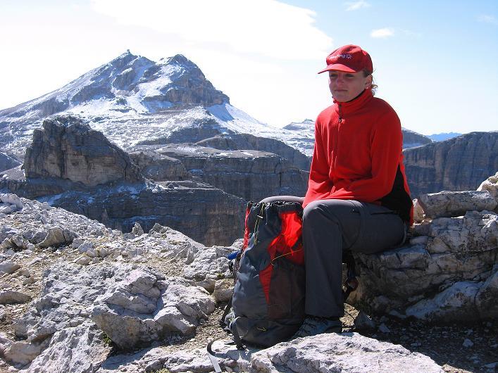 Foto: Andreas Koller / Klettersteig Tour / Piz da Lech (2910m): Südkar-Anstieg oder Klettersteig / Vom Gipfel eröffnet sich der Blick zum Piz Boe (3152 m) / 25.09.2008 20:07:28