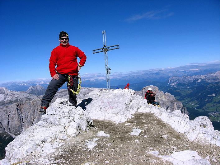 Foto: Andreas Koller / Klettersteig Tour / Piz da Lech (2910m): Südkar-Anstieg oder Klettersteig / Boeseekofel-Gipfelkreuz / 25.09.2008 20:07:04