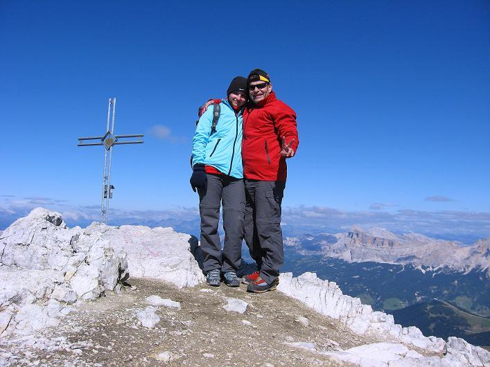 Foto: Andreas Koller / Klettersteig Tour / Piz da Lech (2910m): Südkar-Anstieg oder Klettersteig / Am Gipfel / 25.09.2008 20:05:15