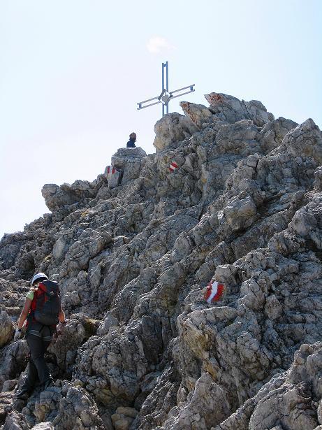 Foto: Andreas Koller / Klettersteig Tour / Piz da Lech (2910m): Südkar-Anstieg oder Klettersteig / Abstieg vom Gipfel am Normalweg / 25.09.2008 20:05:00