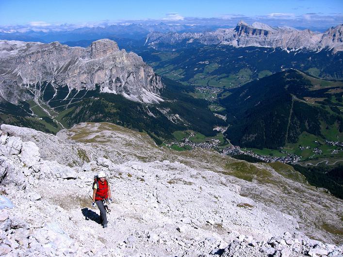 Foto: Andreas Koller / Klettersteig Tour / Piz da Lech (2910m): Südkar-Anstieg oder Klettersteig / Abstieg am Gipfeldach des Normalwegs / 25.09.2008 20:03:44