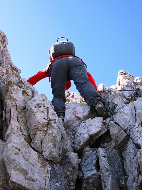 Foto: Andreas Koller / Klettersteig Tour / Piz da Lech (2910m): Südkar-Anstieg oder Klettersteig / Normalweg - Felsstufe / 25.09.2008 20:02:46