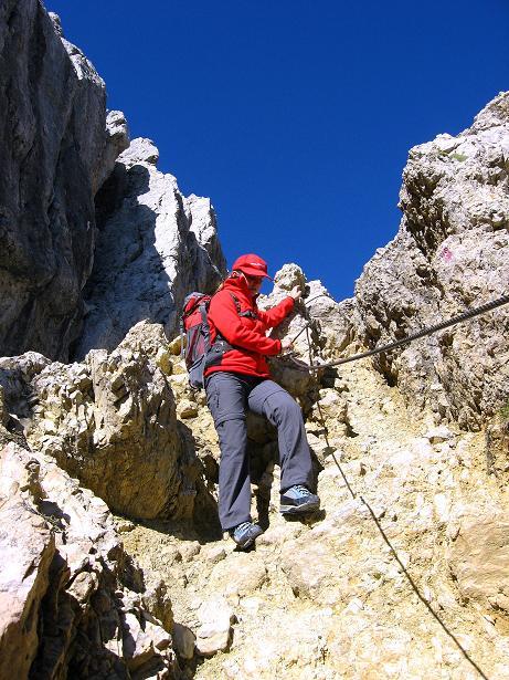 Foto: Andreas Koller / Klettersteig Tour / Piz da Lech (2910m): Südkar-Anstieg oder Klettersteig / Abstiegsrinne am Normalweg / 25.09.2008 20:01:28