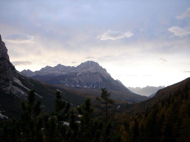 Foto: Manfred Karl / Klettersteig Tour / Col Rosá, Via ferrata Ettore Bovero / Blick zum Sorapiss / 25.09.2008 22:21:21