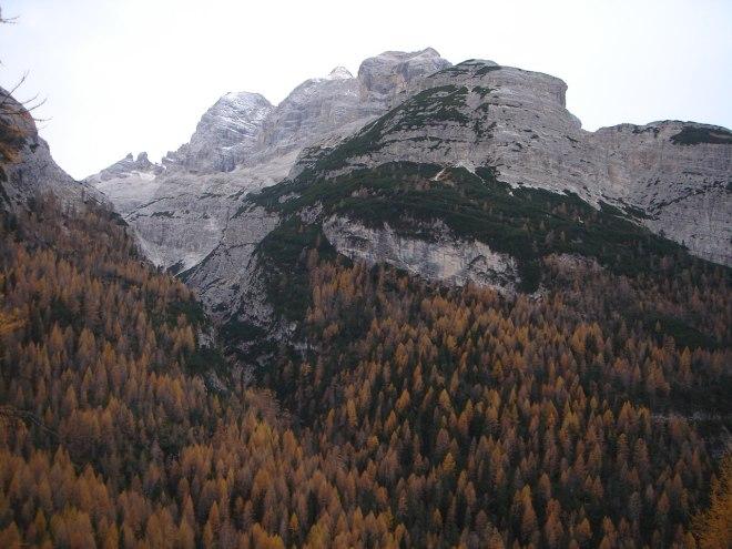 Foto: Manfred Karl / Klettersteig Tour / Col Rosá, Via ferrata Ettore Bovero / Tofana von Norden / 25.09.2008 22:20:56