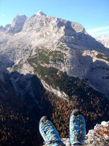 Foto: Manfred Karl / Klettersteig Tour / Col Rosá, Via ferrata Ettore Bovero / Tofanastock / 25.09.2008 22:16:05