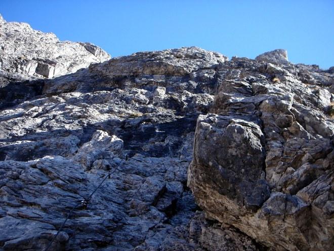 Foto: Manfred Karl / Klettersteig Tour / Laserz Klettersteig / Einstiegswand / 25.09.2008 22:41:45