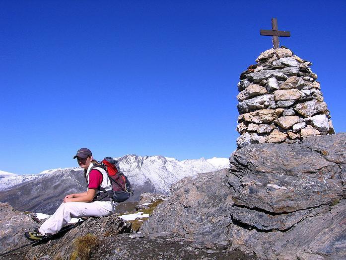 Foto: Andreas Koller / Wander Tour / Vom Glocknerblick auf den Mohar (2604m) / Gipfel-Steinmann am Mohar / 30.09.2008 22:40:21