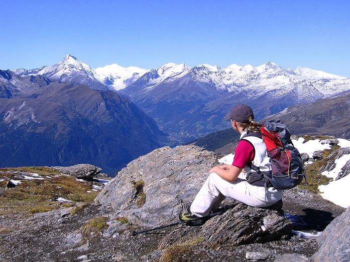 Foto: Andreas Koller / Wander Tour / Vom Glocknerblick auf den Mohar (2604m) / Blick vom Mohar zum Großglockner (3798 m) / 30.09.2008 22:39:54