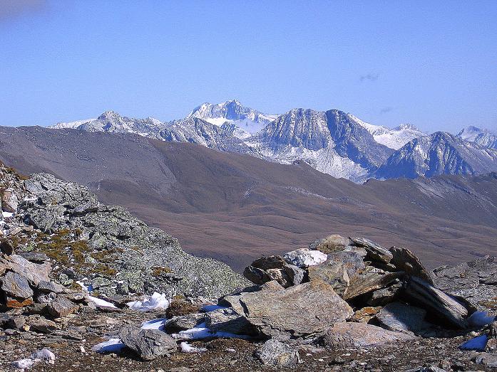 Foto: Andreas Koller / Wander Tour / Vom Glocknerblick auf den Mohar (2604m) / Im O zeigt sich die Hochalmspitze (3360 m) / 30.09.2008 22:37:32