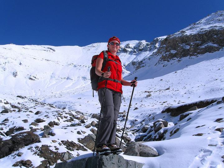 Foto: Andreas Koller / Wander Tour / Fuscherkarkopf (3336m) - Überschreitung / Blick in die Gamsgrube mit Fuscherkarkopf im Hintergrund / 02.10.2008 03:00:56
