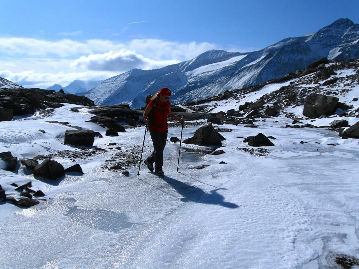 Foto: Andreas Koller / Wander Tour / Fuscherkarkopf (3336m) - Überschreitung / Im Anstieg zum Südlichen Bockkarkees / 02.10.2008 02:59:45