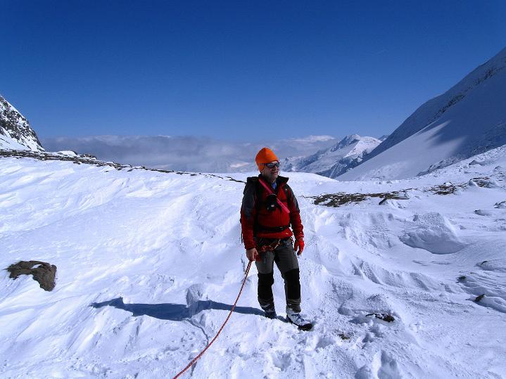Foto: Andreas Koller / Wander Tour / Fuscherkarkopf (3336m) - Überschreitung / In der Fuscherkar Scharte mit Blick nach NO / 02.10.2008 02:54:57