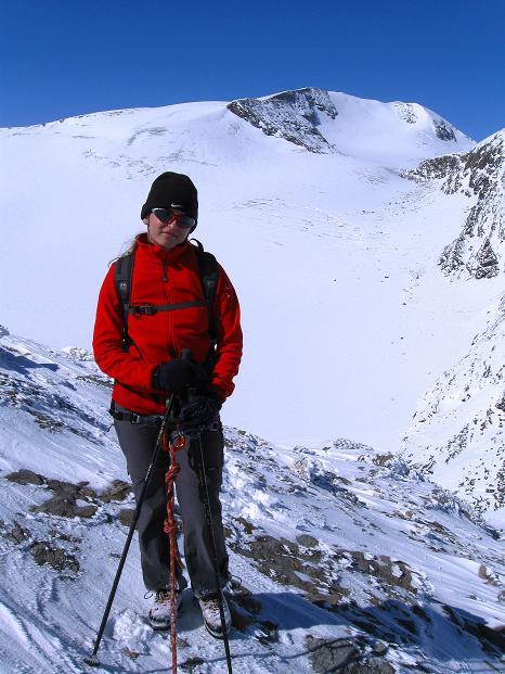 Foto: Andreas Koller / Wander Tour / Fuscherkarkopf (3336m) - Überschreitung / Zum Durchatmen ein breiterer Abshnitt des Grats mit Blick zum Mittleren Bärenkopf (3357 m) / 02.10.2008 02:54:28