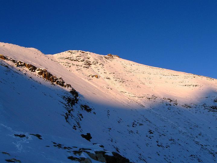 Foto: Andreas Koller / Wander Tour / Fuscherkarkopf (3336m) - Überschreitung / Der Fuscherkarkopf in der untergehenden Sonne / 02.10.2008 02:48:40