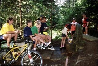 Foto: lavanttal / Mountainbike Tour / MTB 1 - St. Peter-Tour / Radfahrer bei Kölzer Quelle / 07.10.2008 10:44:59